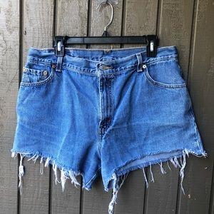 Vintage High Waisted Levi Denim Shorts